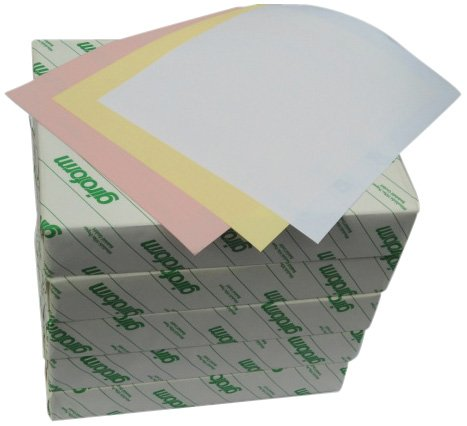 Carbonless Paper 3-Part Reverse 5 Reams / 2505 Sheets 835 sets Pink / Canary / Bright  White 8 1/2 x 11