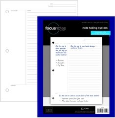 TOPS 2 X FocusNotes Note Taking System Filler Paper, 8.5 x 11 Inch, 3-Hole Punched, White, 100 Sheets 62354 …