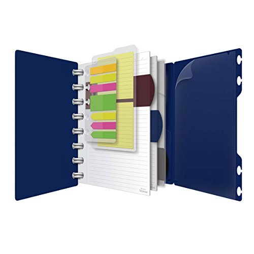 Ampad Versa Crossover Notebook, 6 x 9 Inch Size, Wide-Ruled, Navy, 60 Sheets 25-635