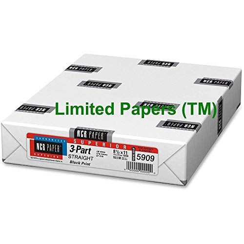 Limited Papers TM NCR Carbonless Paper, 3-Part Straight Collated, 8-1/2″ x 11″ 20