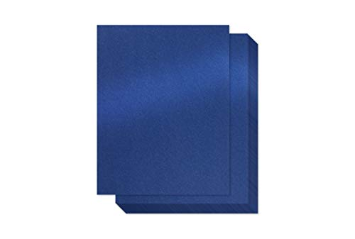 Navy Blue Shimmer Paper – 100-Pack Metallic Cardstock Paper, 92 lb Cover, Double Sided, Printer Friendly – Perfect for Weddings, Birthdays, Craft Use, Letter Size Sheets, 8.5 x 11 Inches