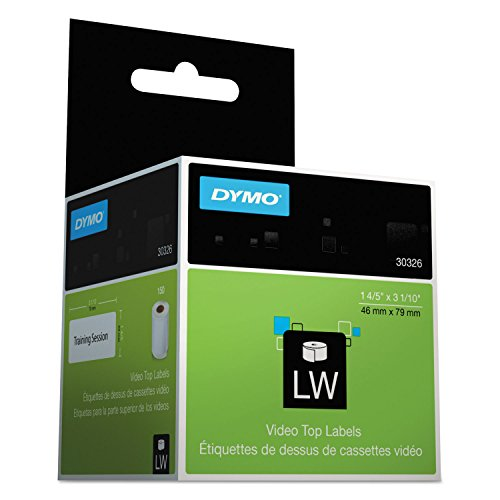 DYM30326 – VHS Top Labels, 1-4/5 x 3-1/10, White, 150/Box – New-DYMO 30326