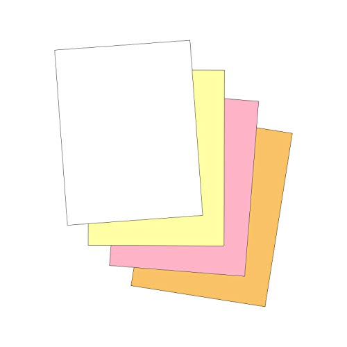 """""""Plain"""" Collated Color Paper Not Carbonless for Laser and Ink Jet Printers 4 Part, Pack"""