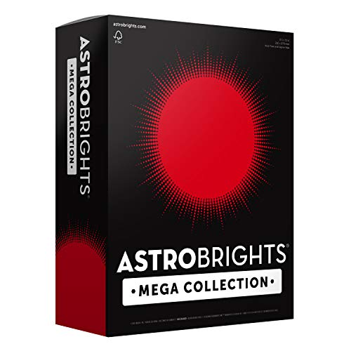 "Astrobrights Mega Collection Colored Paper, 8 ½ x 11, 24 lb/89 GSM, Ultra Red, 625 CT. 91692″Amazon Exclusive"" – More Sheets!"
