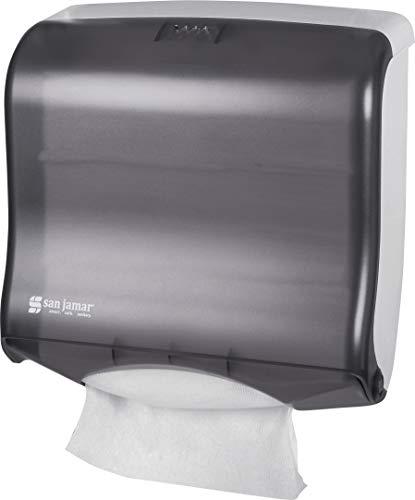 San Jamar T1755TBK Ultrafold Fusion Folded Towel Dispenser, Fits 400 Multifold/240 C-Fold Towels, Classic, Black Pearl