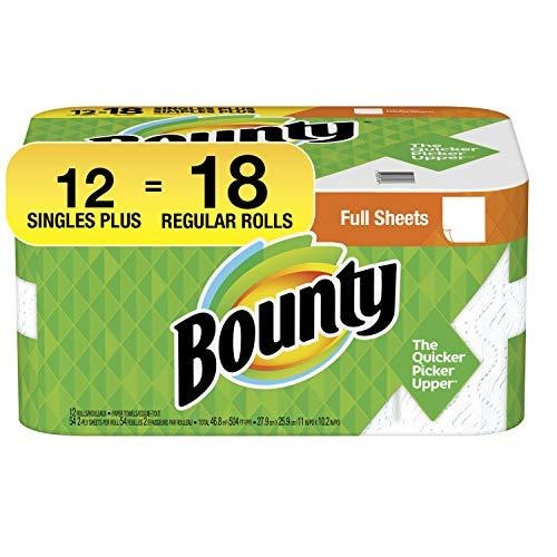 Bounty 2-ply Paper Towel Giant Rolls, 11″ X 10 1/4″, White, 20 Fluid Ounce