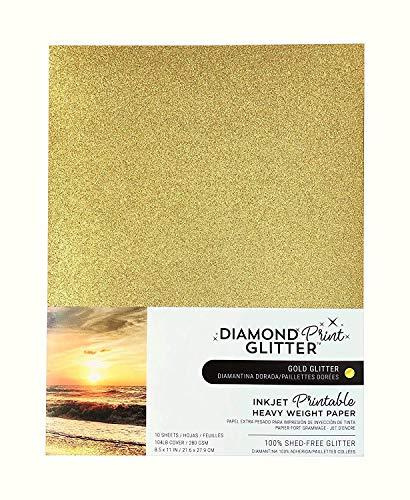 Inkjet Printable Gold Glitter Paper