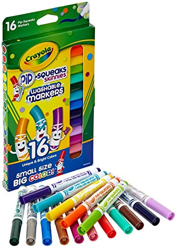 Crayola Washable Pip-Squeaks Skinnies Markers 16-Count per Pack 1-Pack