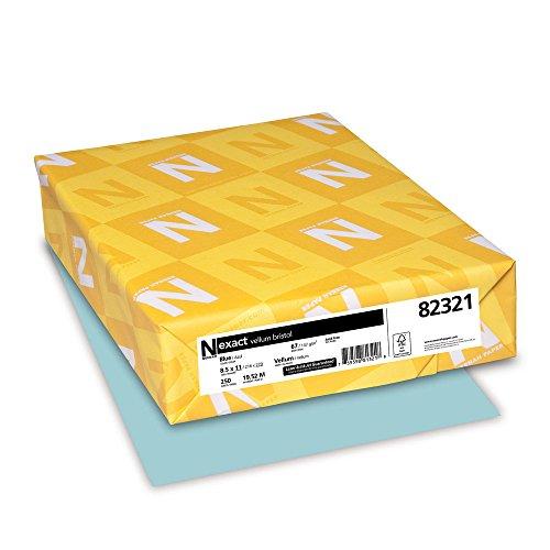Wausau Vellum Bristol Cardstock, 67 lb, 8.5 x 11 Inches, Pastel Blue, 250 Sheets 82321