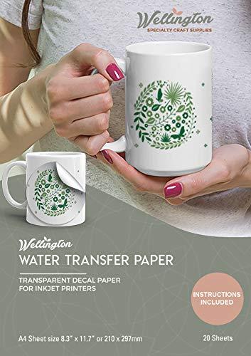 Wellington, Waterslide Decal Paper Inkjet Clear 20 Sheets A4 Size