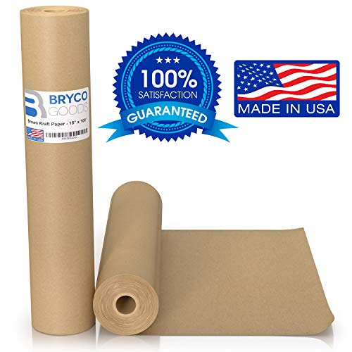 18″ x 1,200″ 100′ Made in The USA – Brown Kraft Paper Roll – Ideal for Packing, Moving, Gift Wrapping, Postal, Shipping, Parcel, Wall Art, Crafts, Bulletin Boards, Floor Covering, Table Runner