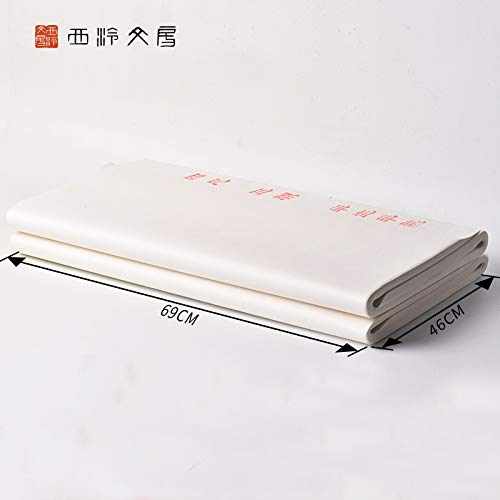 Chinese Quality 100 Sheets 69cmX46cm Half-Sized/Half raw Xuan Paper for sumi Calligraphy and Painting
