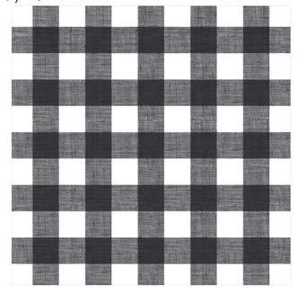Black/White Buffalo Plaid Woodland Plaid 12×12 Scrapbook Paper – 4 Sheets