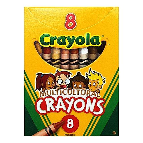 CRAYOLA LLC MULTICULTURAL CRAYONS REG 8PK Set of 24